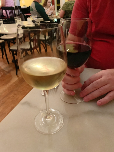 A glass of wine at Cheesetique in Alexandria, Virginia