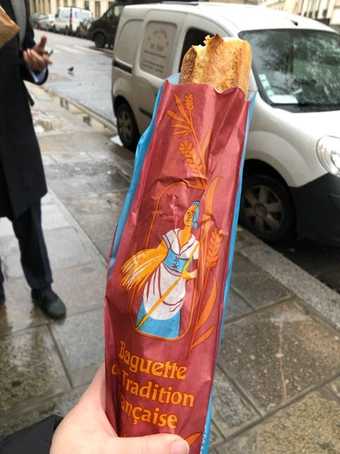 The baguette at Tout Autour du Pain in Paris, France