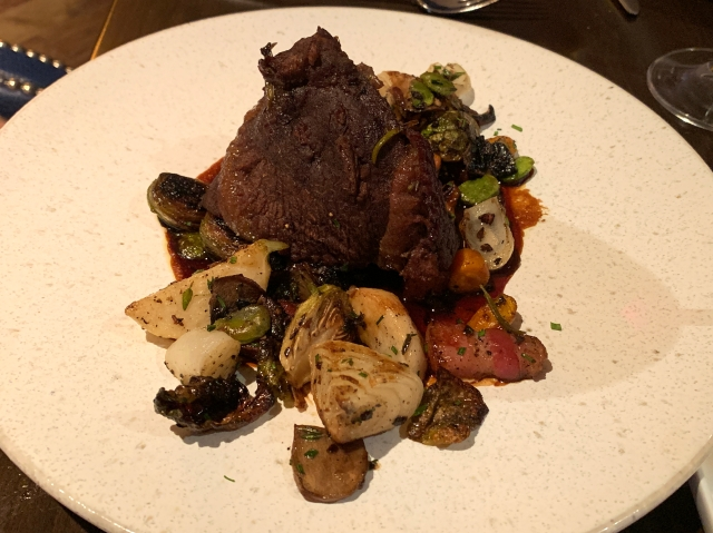 Beef cheeks at Brabo Restaurant in Alexandria, Virginia