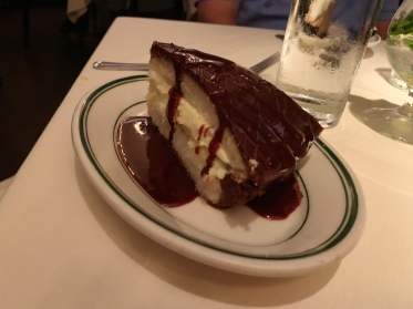 The Boston Cream pie at Joe's Seafood, Prime Steak & Stone Crab in Washington, D.C.