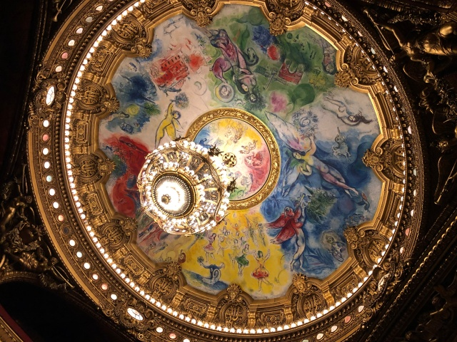 The Chagall Ceiling in the Palais Garnier in Paris, France