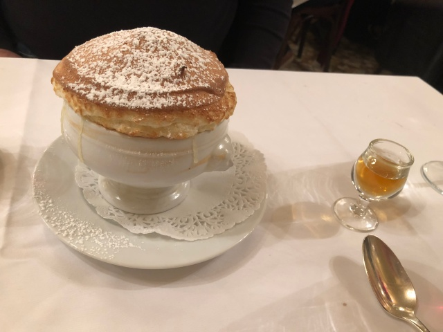 The Grand Marnier souffle at Josephine Chez Dumonet in Paris, France