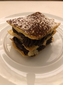 The chocolate millefeuille at Le Coq Rico in Paris, France