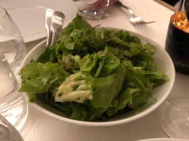 Salad at Le Coq Rico in Paris, France