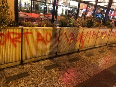 Grafiti following the Paris riots in November, 2018