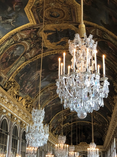 The Hall of Mirrors at the Palace of Versailles