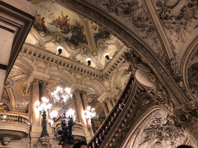 The inside of the Palais Garnier in Paris, France