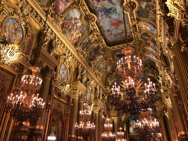 More views of the inside of the Palais Garnier in Paris, France