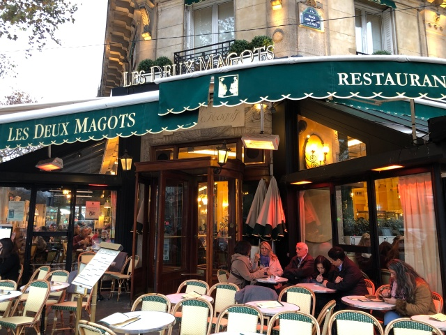 The Cafe Les Deux Magots in Paris, France