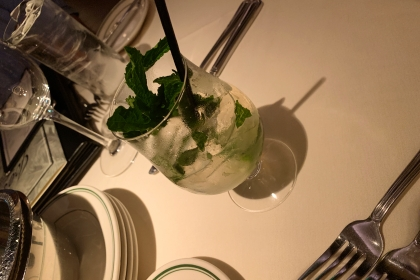 A mojito at Joe's Seafood, Prime Steak & Stone Crab in Washington, D.C.