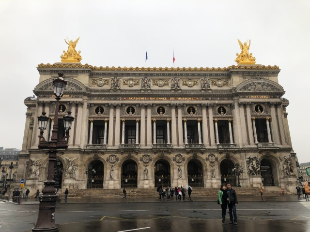 The outside of the Palais Garnier in Paris, France