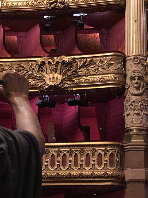 The Phantom's box at the Palais Garnier in Paris, France