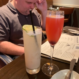 A cocktail at Brabo Restaurant in Alexandria, Virginia
