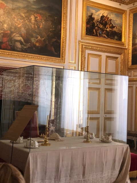 The dining table in the Palace of Versailles
