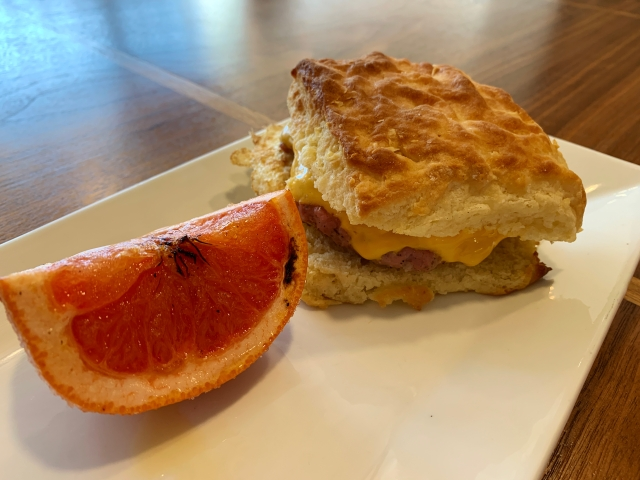 A biscuit sandwich at Salt and Forge in Richmond, Virginia