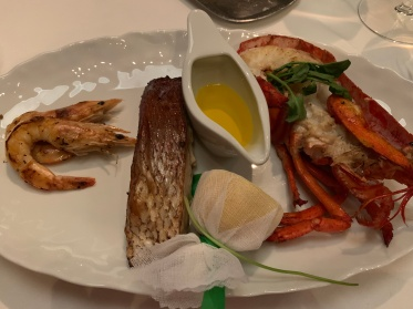 The mixed seafood platter at Ocean Blue on the Norwegian Getaway Cruise Ship.