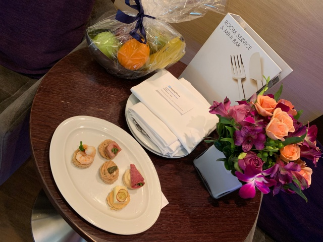 Afternoon snacks brought by the Haven butler on the Norwegian Getaway Cruise Ship