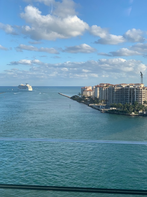 A view of Miami as we sail away on the Norwegian Getaway