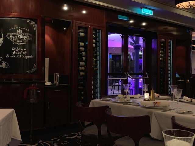Inside Le Bistro aboard the Norwegian Getaway cruise ship