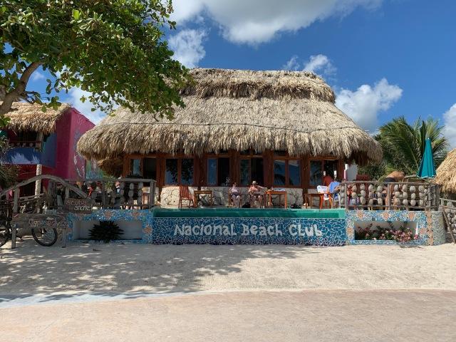 Outside of the Nacional Beach Club in Costa Maya, Mexico