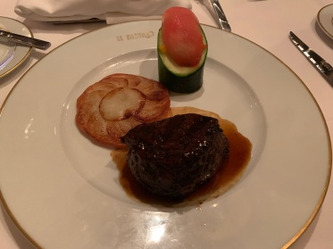 The filet at Le Bistro aboard the Norwegian Getaway cruise ship